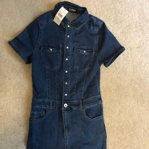 Fashion nova jean jumpsuit